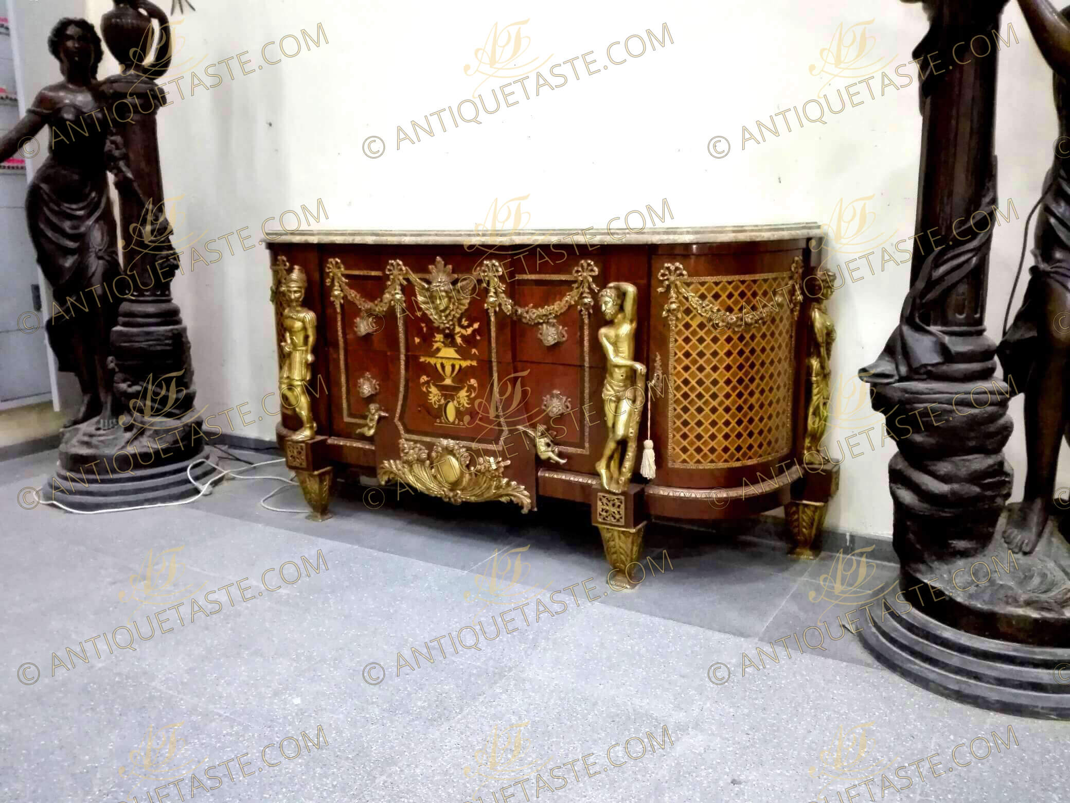 Jean-Henri Riesener sideboard of Courage Force Prudence and Temperence