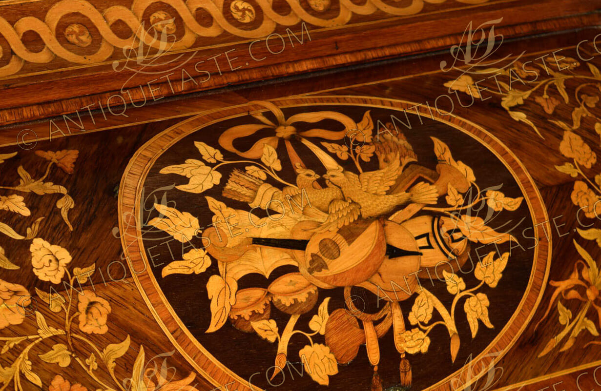 A Resplendent French Ormolu Mounted Marquetry Louis Xv