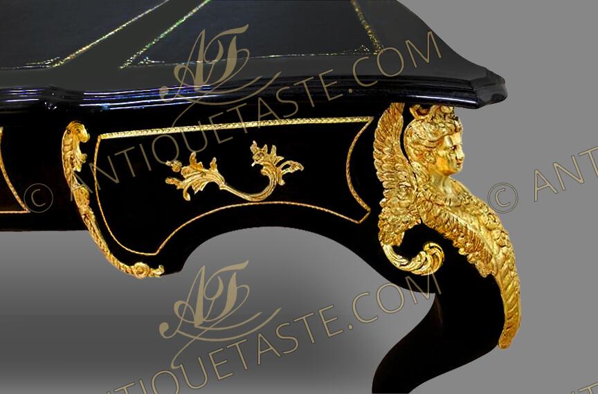 A Grandiose French Louis Xv Style Ormolu Mounted Black