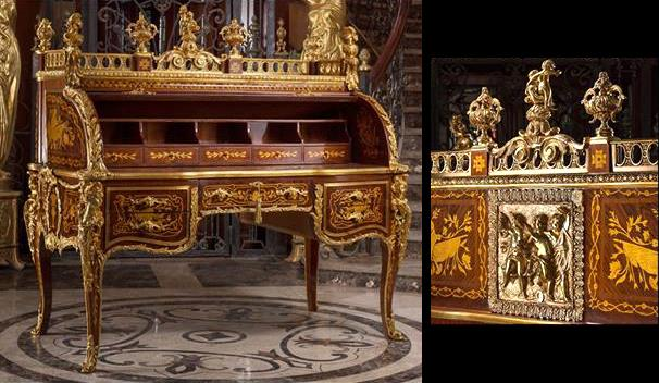 Louis xv cylinder bureau du roi after the model by jean françois