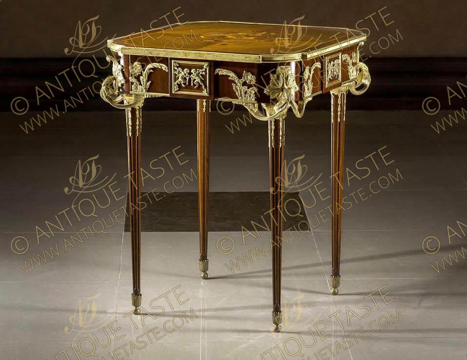 jean henri riesener ormolu side table - Sumptuous French Antique Furniture Reproductions Antique Taste