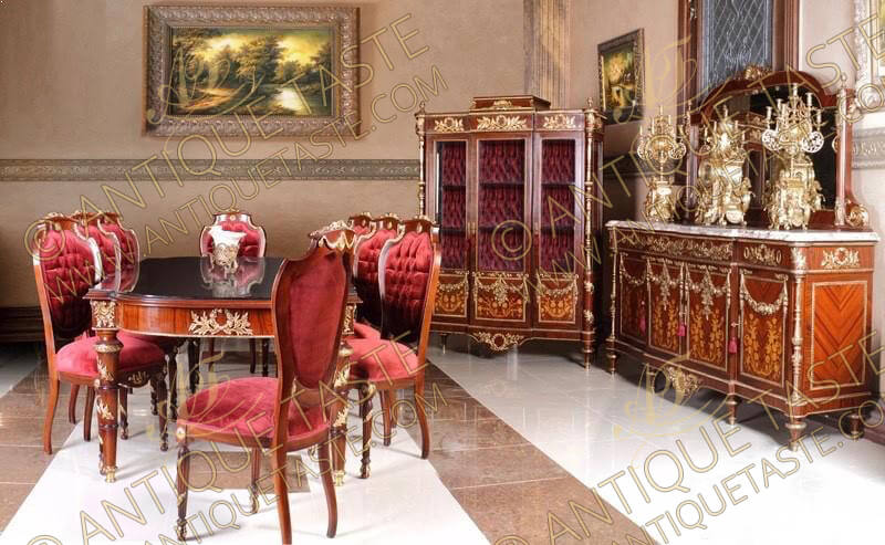 antique taste luxurious antique style dining room. Black Bedroom Furniture Sets. Home Design Ideas