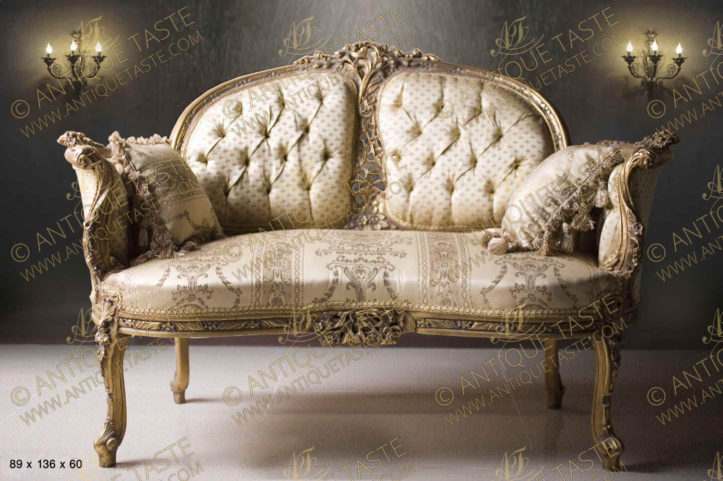 Luxurious seating french furniture salon set love seat for French divan chair
