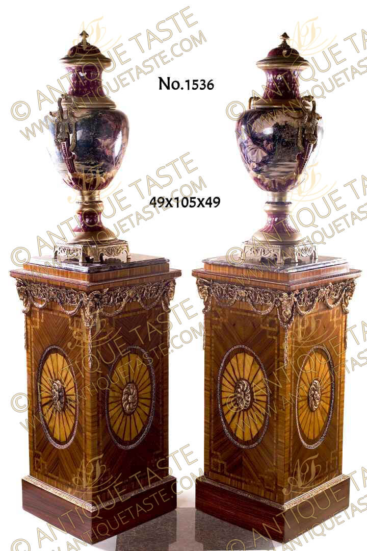 Fine Pair Of George Iii Style Neoclassical Ram Head Ormolu