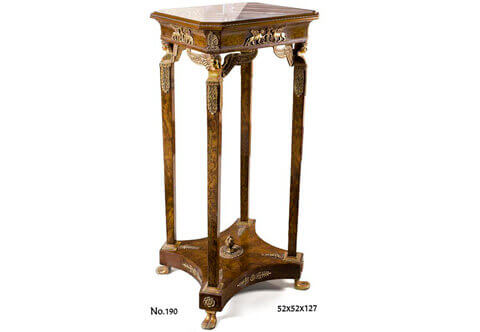 Jacob Desmalter Empire style Pedestal Table, Empire style Stand, Empire style pedestal, Empire style pillar table, Luxurious Pedestals, Jean-Henri Riesner Pedestal, Francois Linke Pedestal, Maison Millet Pedestal, Corners Decoration, French style Stand, Andres Charles Boulle Pedestal, Theodore Millet Style Pedestal, Robert Adam style Vase Stand, Empire Style Pedestal, Vitrine Stands, Louis XV style Pedestals, Bombe Shape Stand, Louis XVI Pedestals, Ormolu-mounted Stand, English style Pedestal, Empire style Pedestal, George III style Pedestals, Heritage Pedestals, Display Stands
